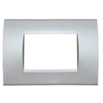 PLACCA 1007-9 7P SILVER/LGT TECNOPOLIMERO Compatibile con serie Living International/Light.