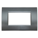 PLACCA 1003-9 3P SILVER/LGT TECNOPOLIMERO Compatibile con serie Living International/Light.