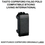 FALSO POLO 40000N/INT-LGT NERO Compatibile con serie Living International/Light.