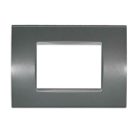 Placca 1003-8 3P Grigio Scuro/Lgt Tecnopolimero Compatibile con serie Living International/Light.